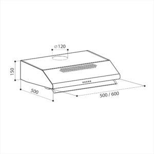 LEX Simple 2M 600 Inox