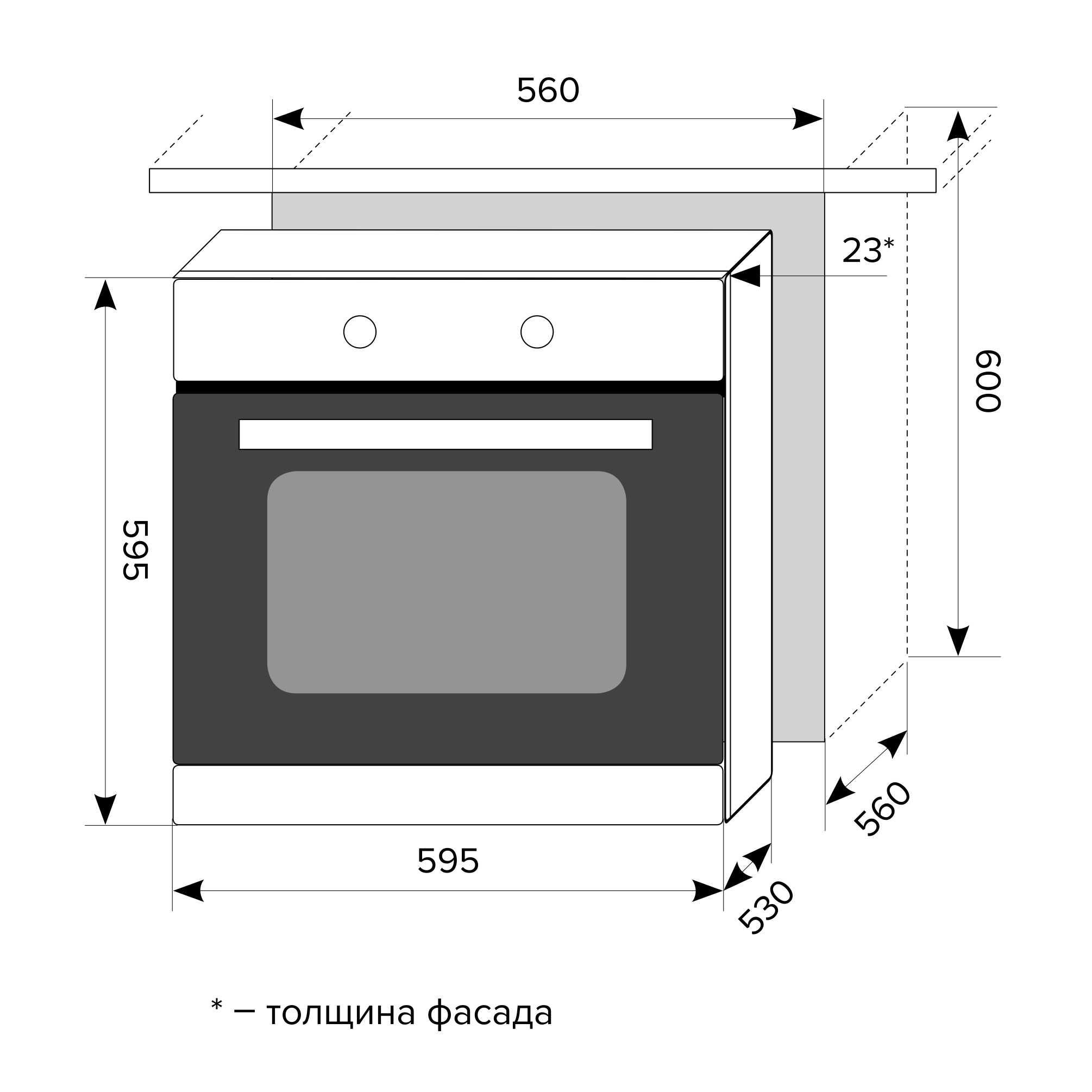 Наклонная кухонная вытяжка SEVERN 50 BLACK